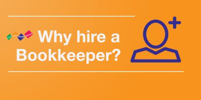 Why Hire A Bookkeeper banner for blog